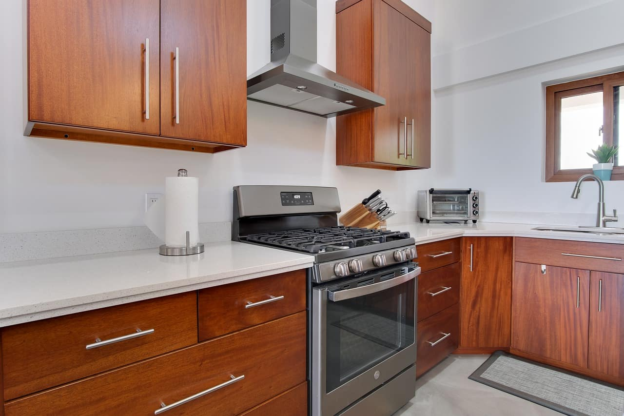 kitchen with clean oven and stove appliance