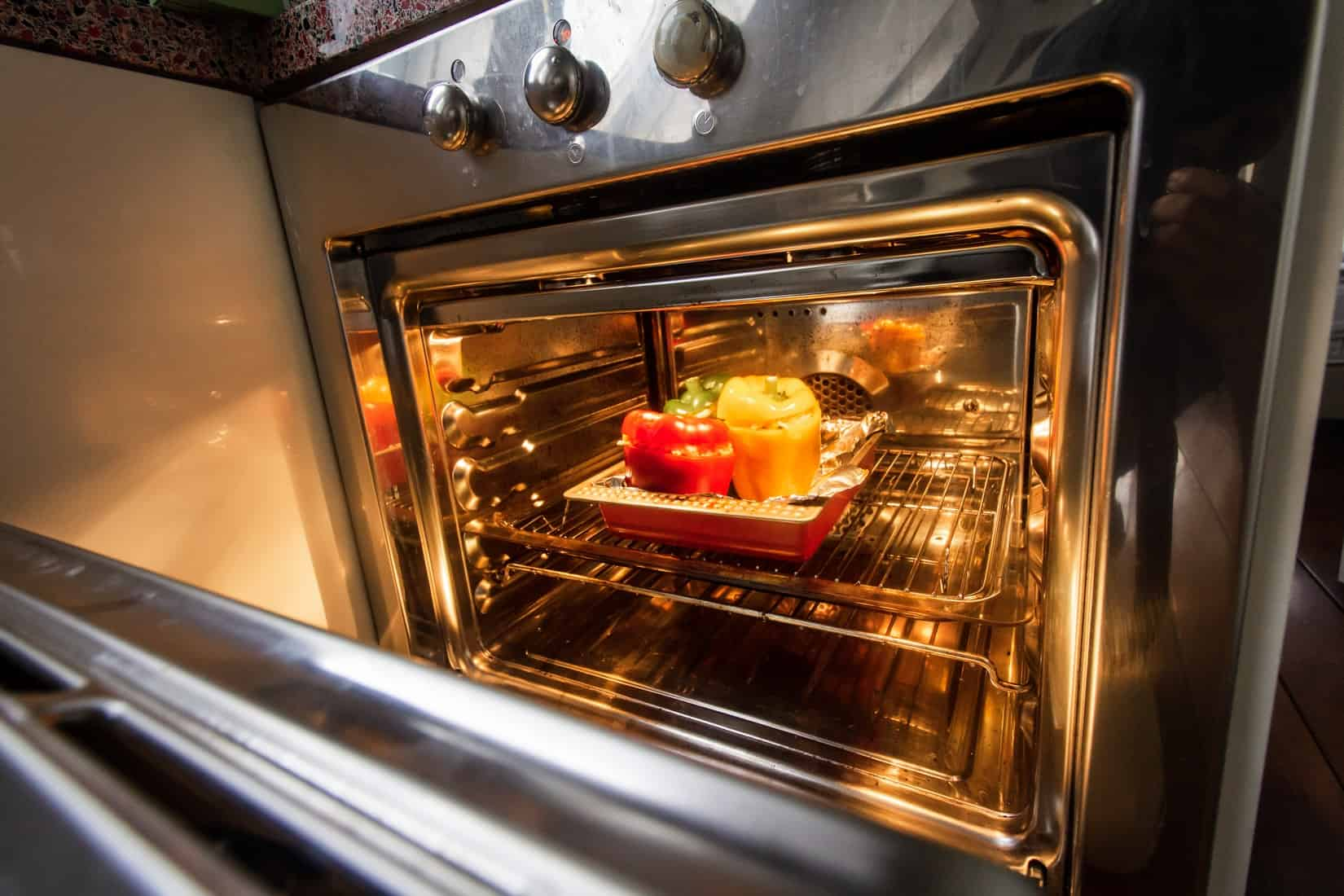 baking food inside the oven