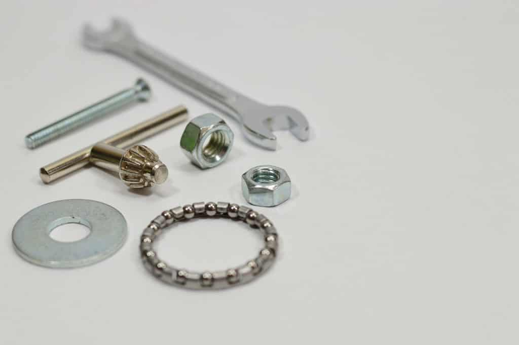 tools or parts to attach your oven handle like screws or spacer washer
