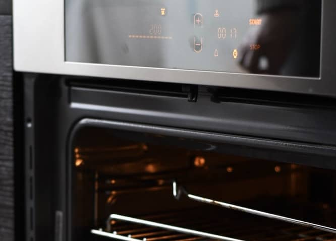 digital oven with codes or combination of numbers or temperature