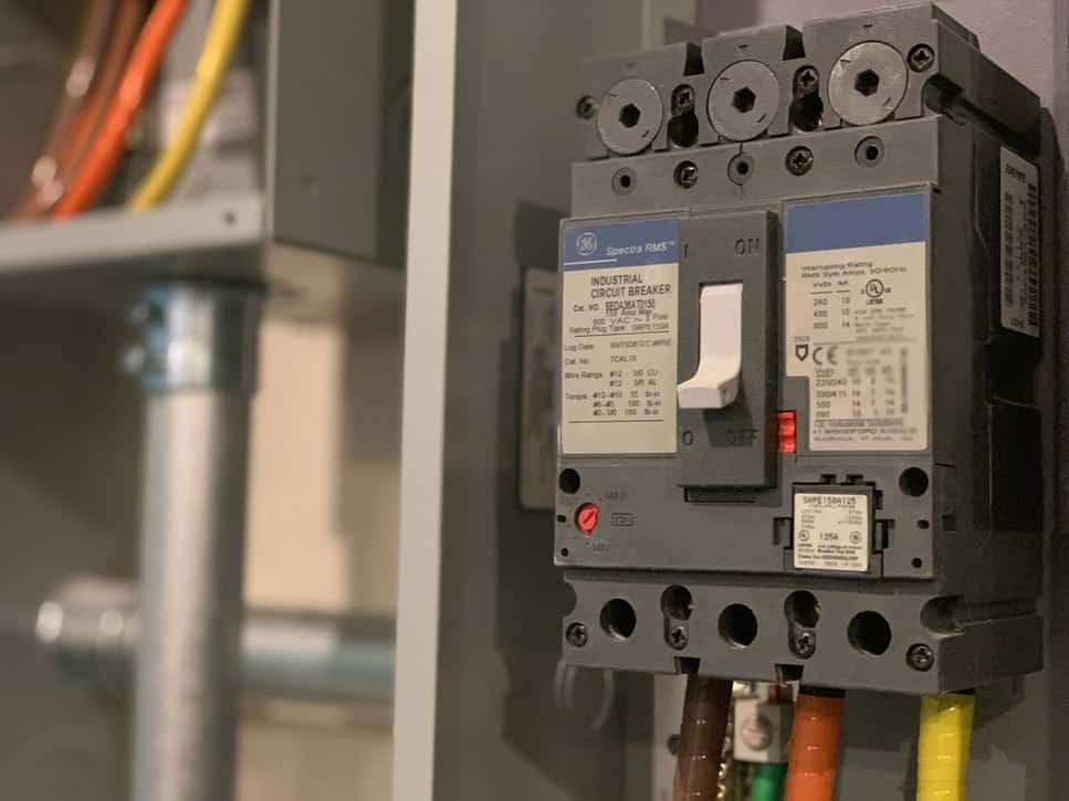 circuit breaker or switch box should be turn off when plumbing a dishwasher